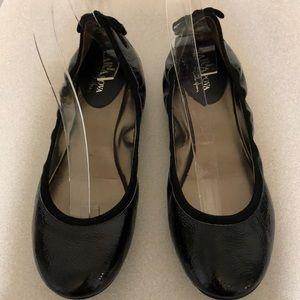 COLE HAAN MARIA SHARAPOVA  BLACK BALLET FLATS 8M